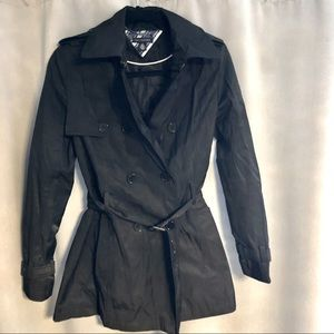 Tommy Hilfiger black trench coat size small